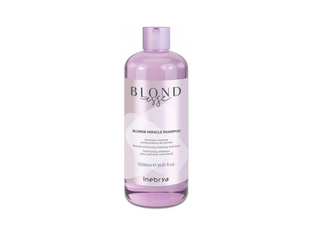 Inebrya BLONDesse Blonde shampoo 1000ml šampon pro blond, šedivé a melírované vlasy