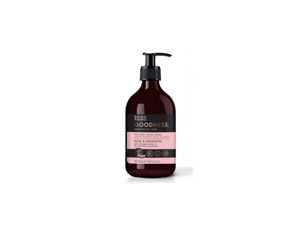 Baylis & Harding Goodness had wash natural Rose & Geranium tekuté mýdlo 500ml