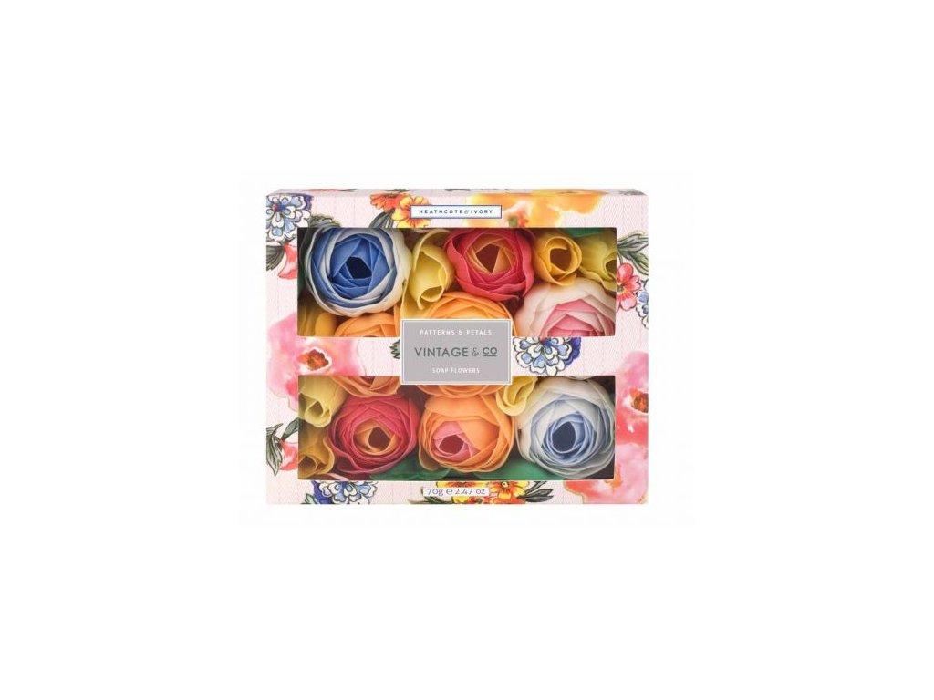 Heathcote & Ivory Mýdlové květy do koupele Patterns & Petals 70g