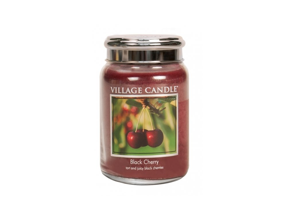 village candle vonna svicka ve skle cerna tresen black cherry 26oz