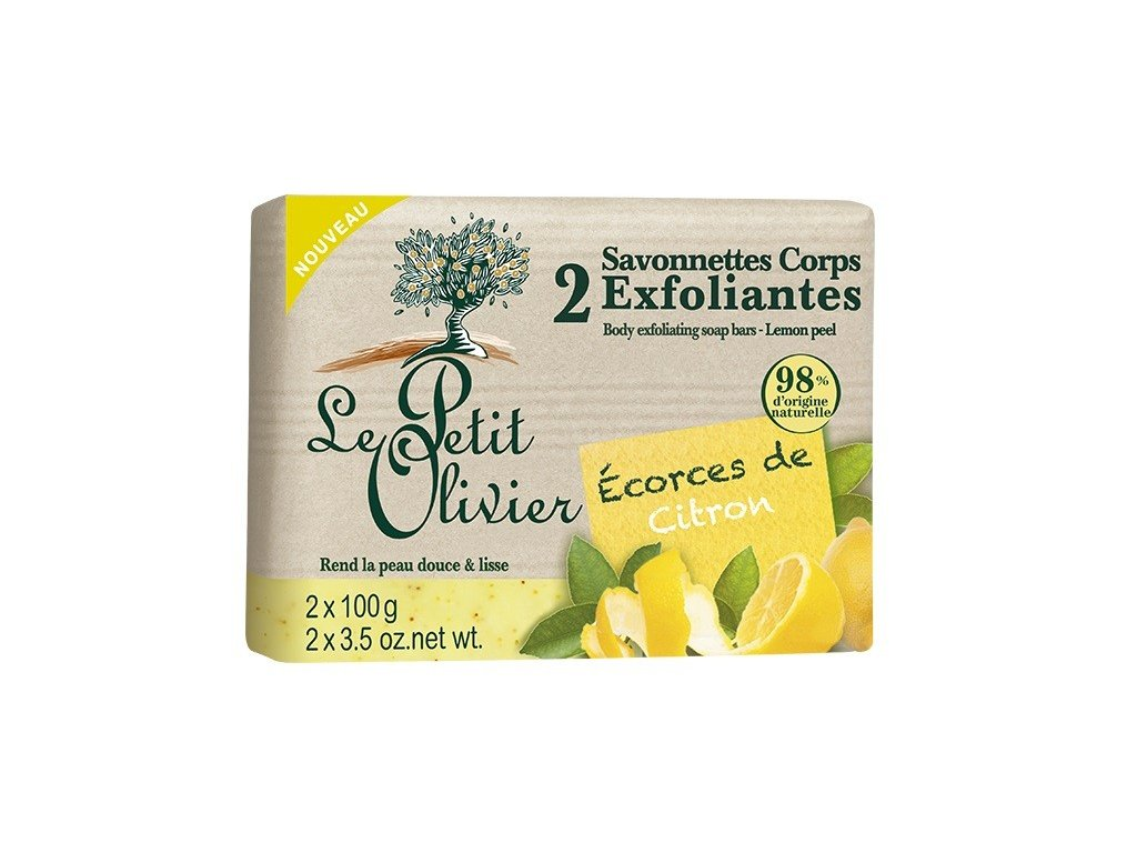 Le Petit Olivier jemné peelingové mýdlo Citron 2x100g