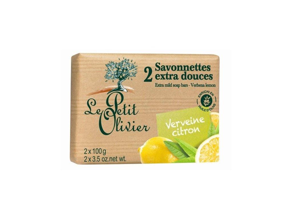 Le Petit Olivier extra jemné mýdlo Citronový květ 2x100g