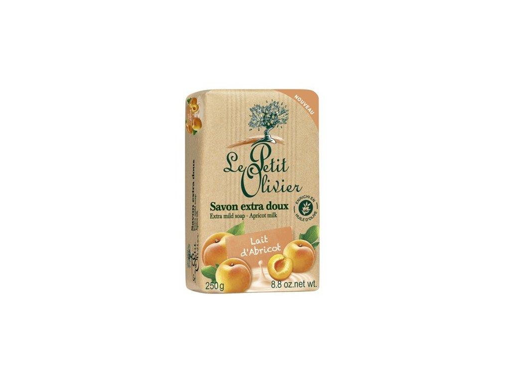Le Petit Olivier extra jemné mýdlo Meruňkové mléko 250g