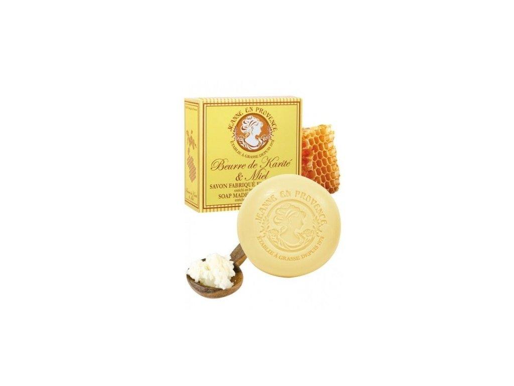Jeanne en Provence mýdlo na ruce Bambucké máslo a med 100g