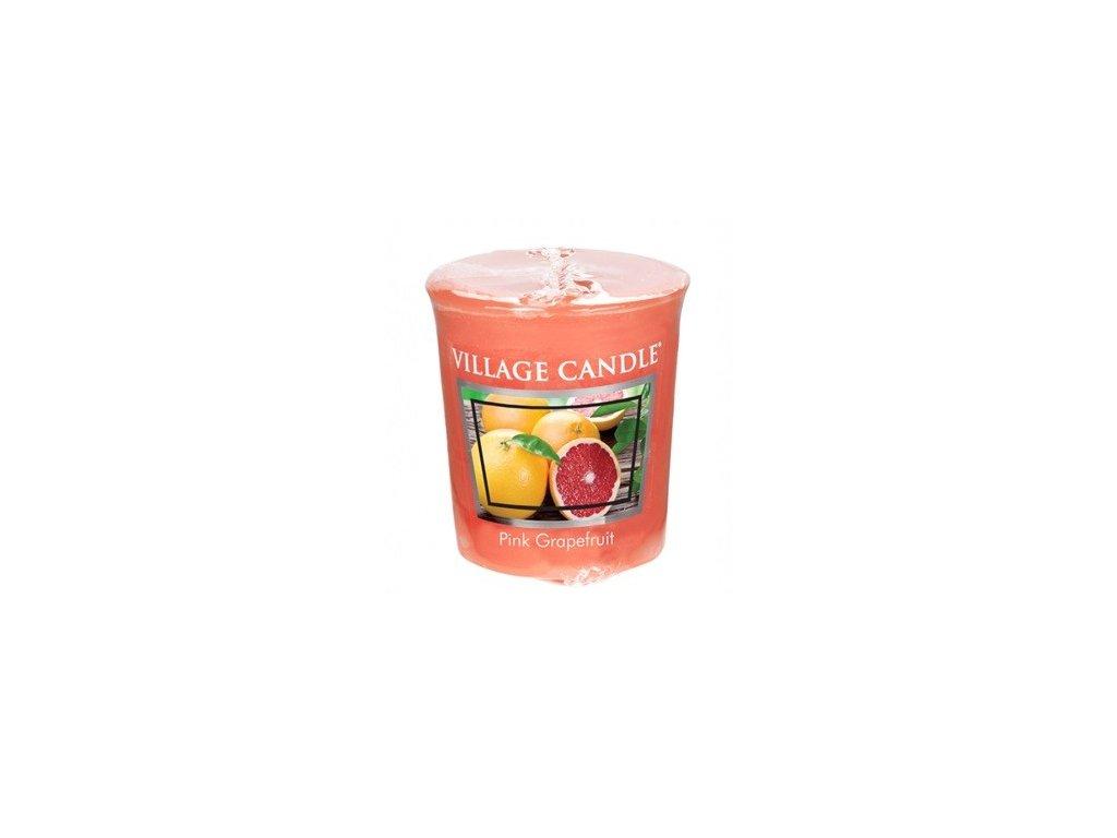 Village Candle votivní svíčka Růžový grapefruit 57g