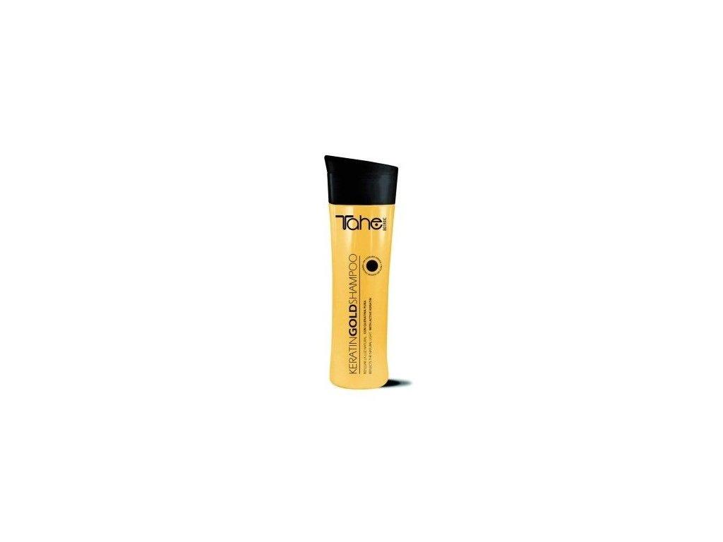 Tahe Keratin Gold Botanic shampoo 300ml šampon na suché a poškozené vlasy