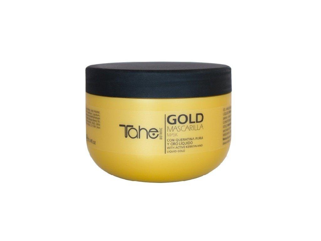 Tahe Keratin Gold Botanic mask 300ml maska na suché a poškozené vlasy