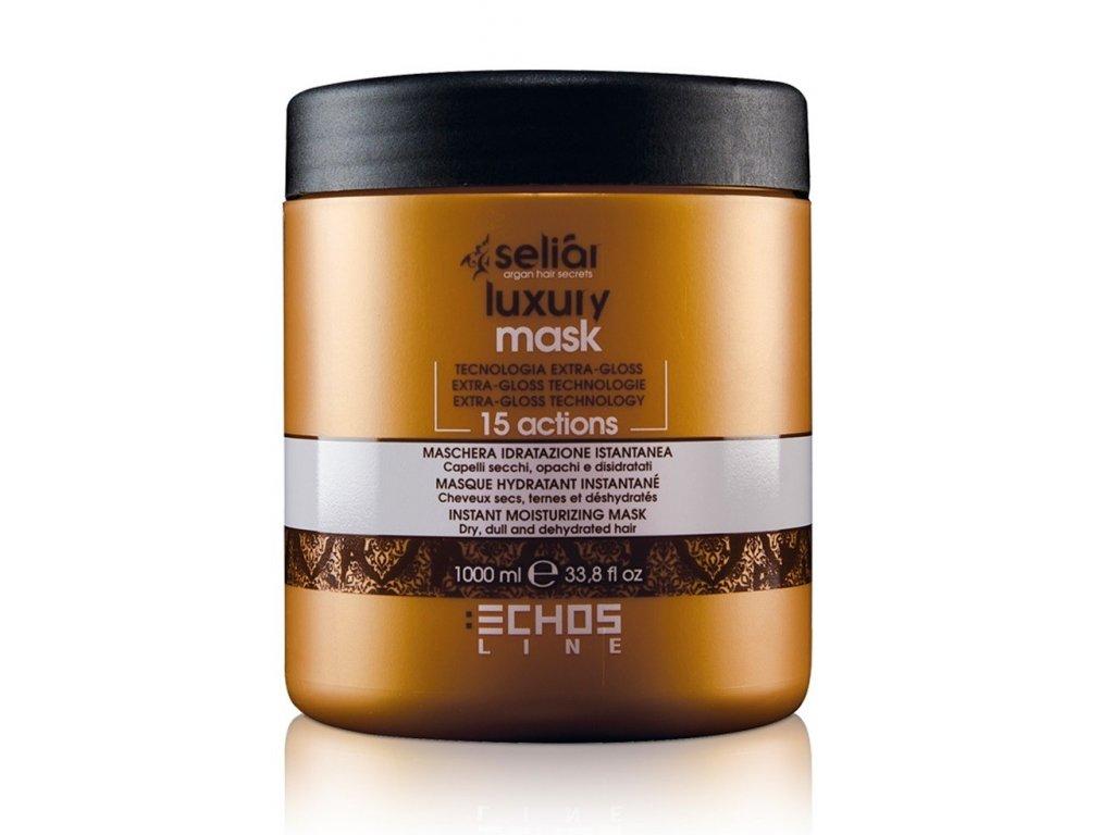 Echosline Seliár Luxury mask 1000ml hydratační minutová maska na suché a matné vlasy