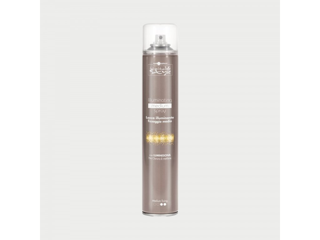 Hair Company Illuminating medium spray 500ml lak na vlasy s leskem