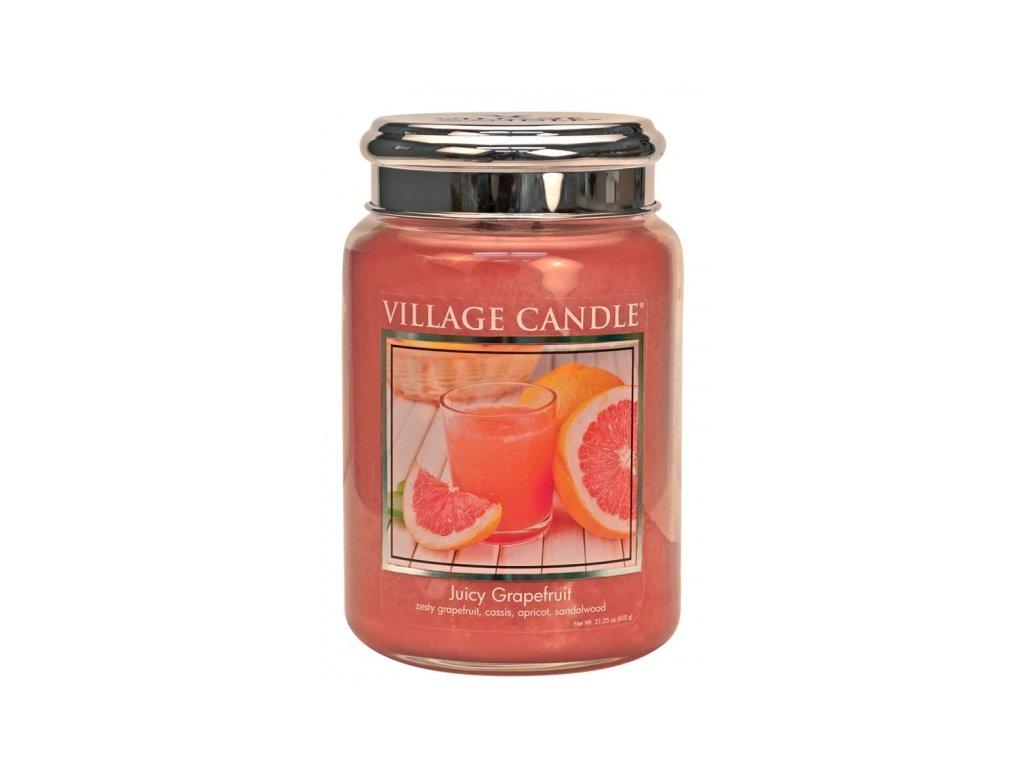 village candle vonna svicka ve skle juicy grapefruit 26oz