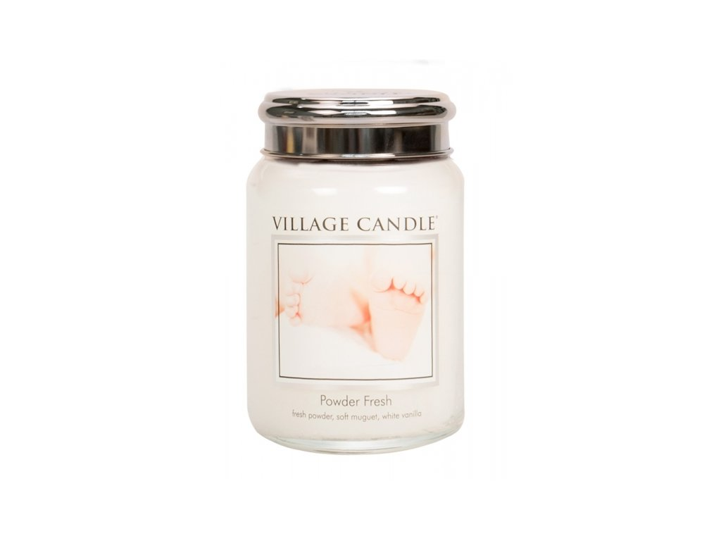 village candle vonna svicka ve skle pudrova svezest powder fresh 26oz