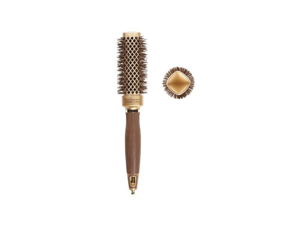 Olivia Garden NanoThermic ceramic+ion Shaper Square brush 30  hranatý kartáč na vlasy
