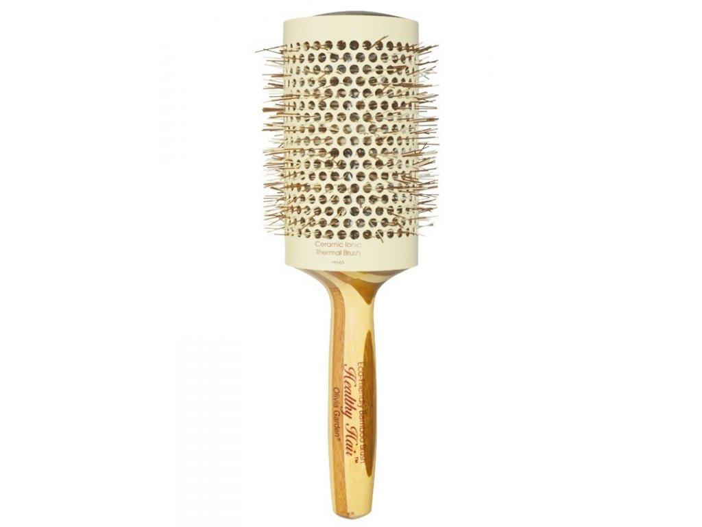 Olivia Garden Healthy Hair Bamboo Thermal 63 kulatý kartáč na vlasy