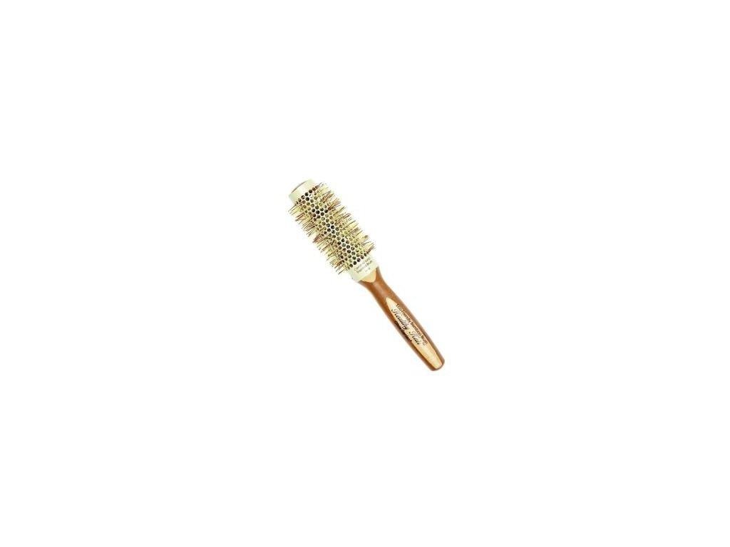 Olivia Garden Healthy Hair Bamboo Thermal 33 kulatý kartáč na vlasy
