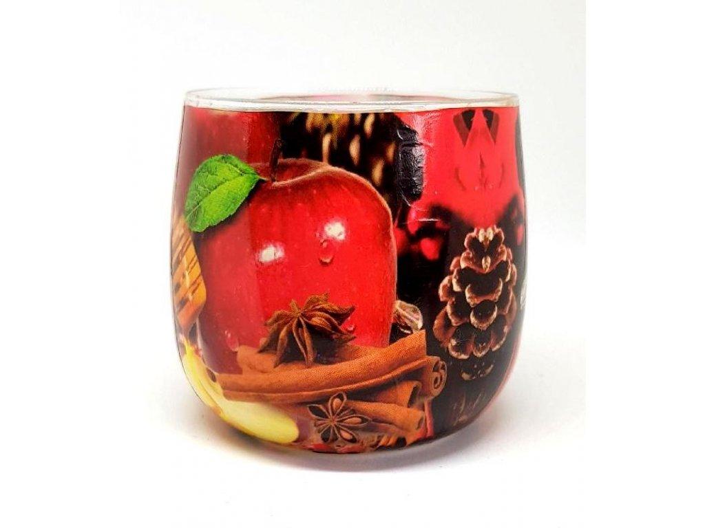Vánoční svíčka Apple & Cinnamon 100g