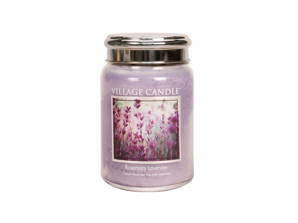 village candle vonna svicka ve skle rozmaryn a levandule rosemary lavender 26oz