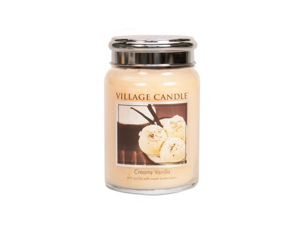 village candle vonna svicka ve skle vanilkova zmrzlina creamy vanilla 26oz