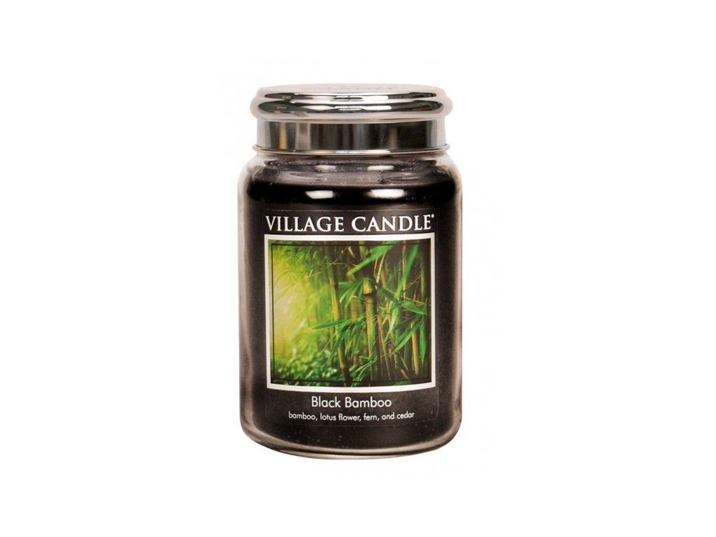 village candle vonna svicka ve skle bambus black bamboo 26oz
