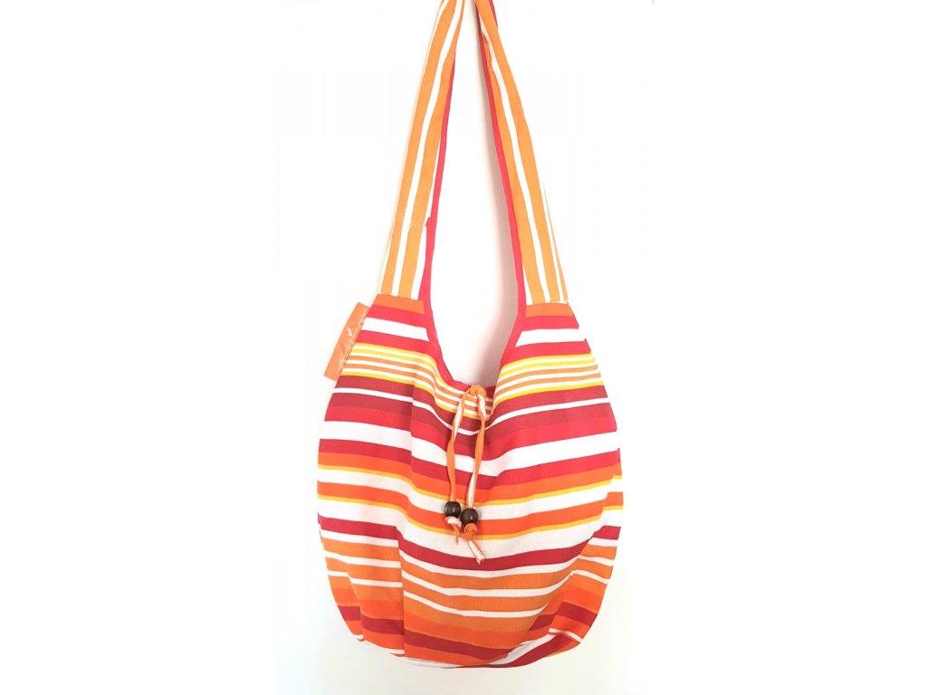 Letní plátěná taška přes rameno