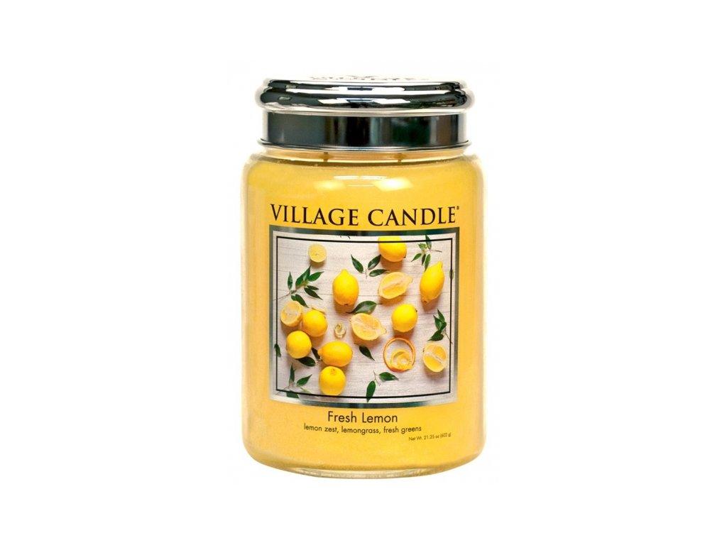 village candle vonna svicka ve skle fresh lemon 26oz