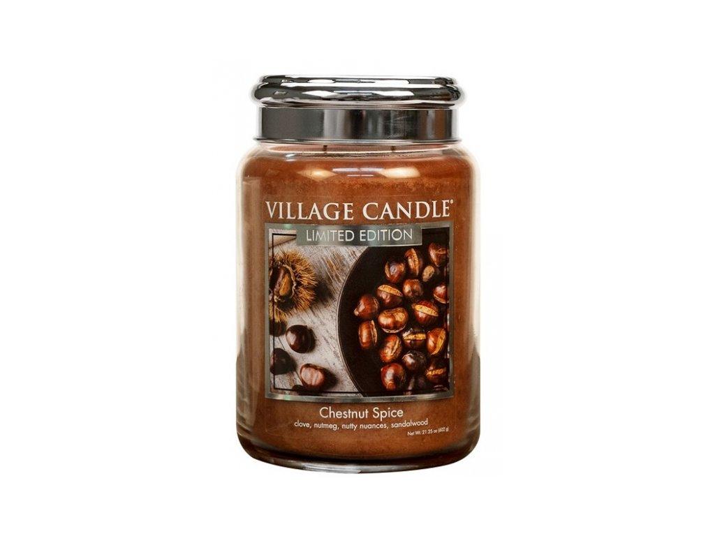village candle vonna svicka ve skle chestnut spice 26oz