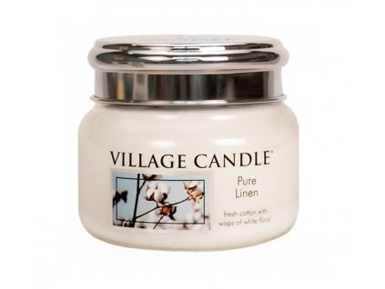 village candle pure linen 262 g