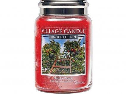 28331 village candle here apple wood svicka 602g