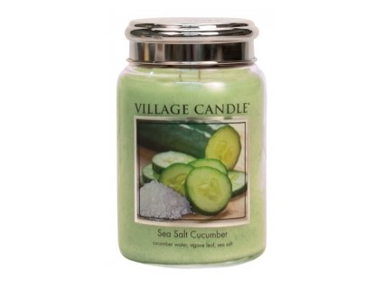 vyr 416947085 12586 village candle vonna svicka ve skle morska svezest sea salt cucumber 26oz