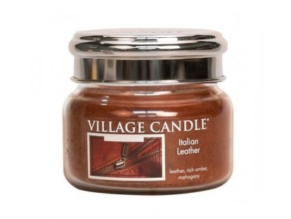 village candle italian leather 262g