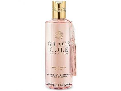 Grace Cole soothing bath & shower gel Vanilla Blush & Peony 300ml koupelový a sprchový gel