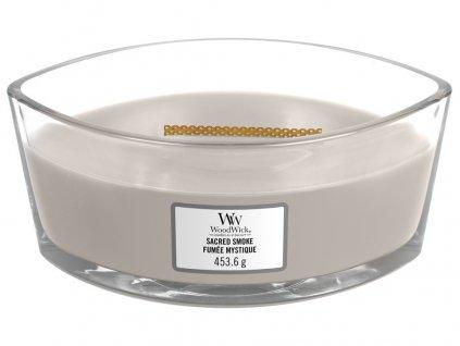 Woodwick Sacred Smoke 453,6g svíčka s dřevitou vůní