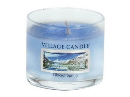 Village Candle vonná mini svíčka ve skle Glacial Spring 34g