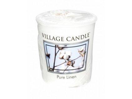 Village Candle votivní svíčka Pure linen - čisté prádlo 57g