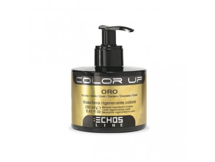 Echosline Color Up Gold 250ml barevná maska na vlasy zlatá