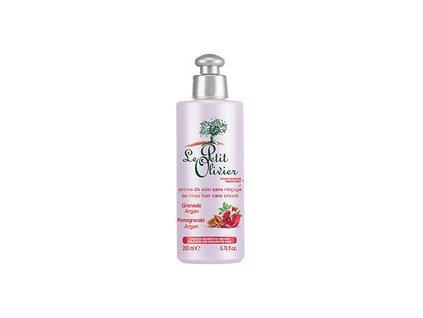 le petit olivier pecujici krem na vlasy s granatovym jablkem a arganovym olejem hair care cream 200 ml woman