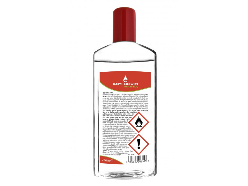 Anti-COVID dezinfekce gel 250 ml
