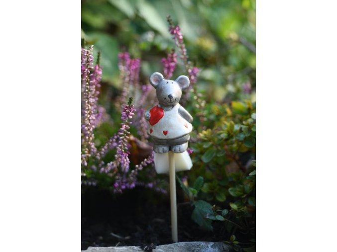 bílá keramická myš 2