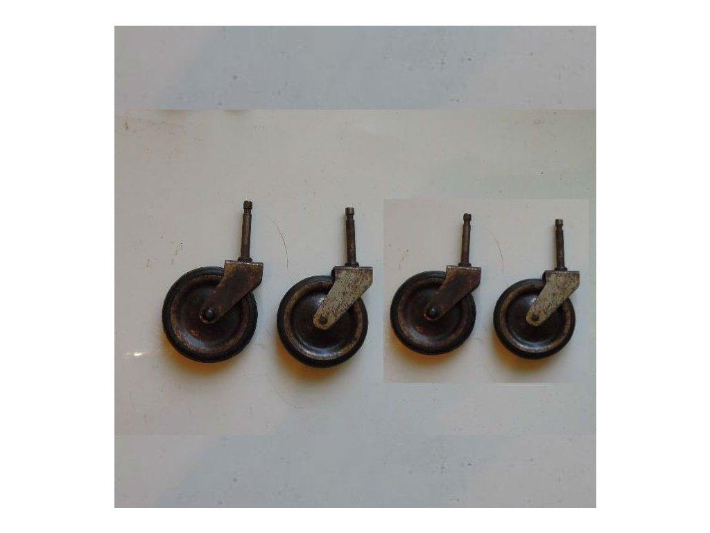 4x antikové kolečko k servírovacímu stolku,4x antikové kolečko k servírovacímu stolku