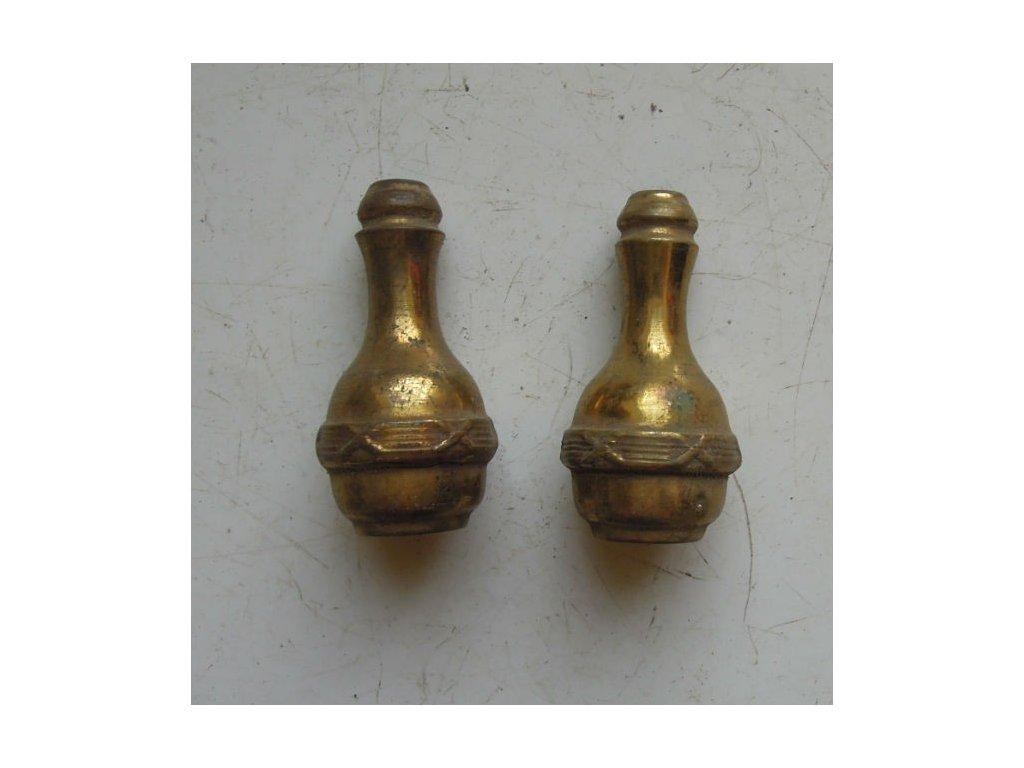 antikový mosazný úchyt na provázek k závěsům - celek??,antikový mosazný úchyt na provázek k závěsům - celek??