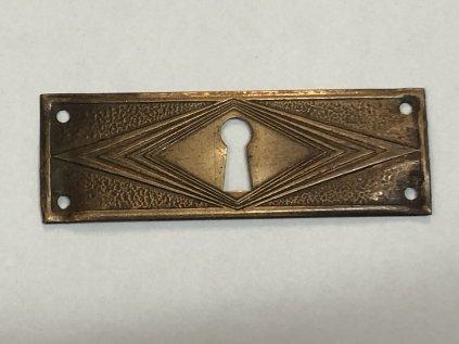 kování - štítek na nábytek s klíčovou dírkou