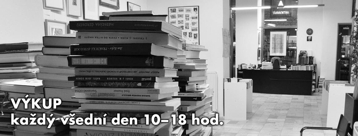 Výkup knih v Antikvariátu Alfa