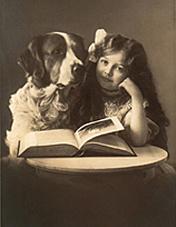 Pes a děvče
