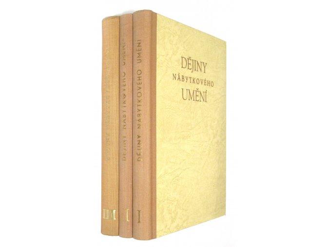 Dějiny nábytkového umění I.-III.