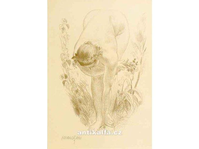 Akt ženy s kyticí