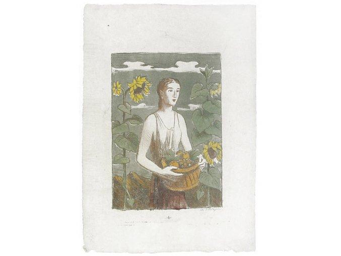 Žena s košíkem ovoce