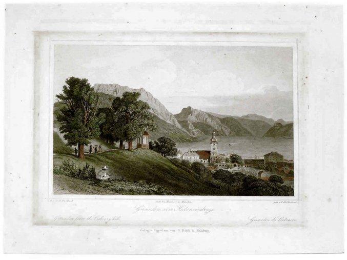 Gmunden vom Kalvarienberg