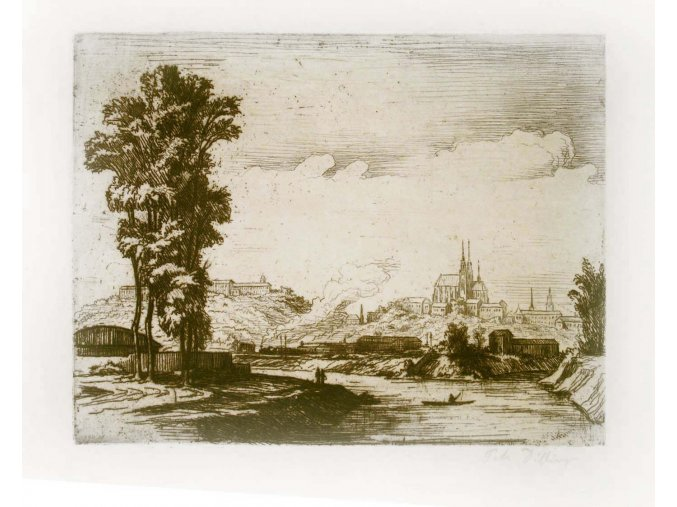 Pohled na Špilberk a Petrov od Svratky