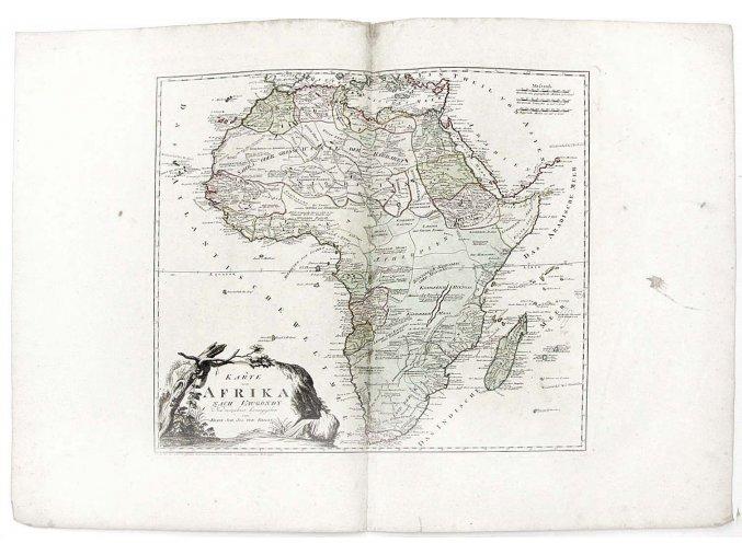Karte von Afrika nach Vaugondy