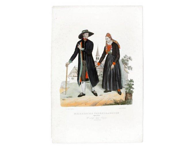 Manželé z panství Jihlava ve staroněmeckém kroji