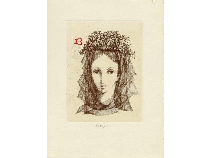 Žena s květy